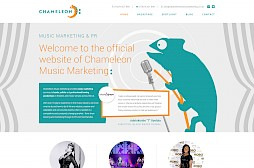 Chameleon Music Marketing Website